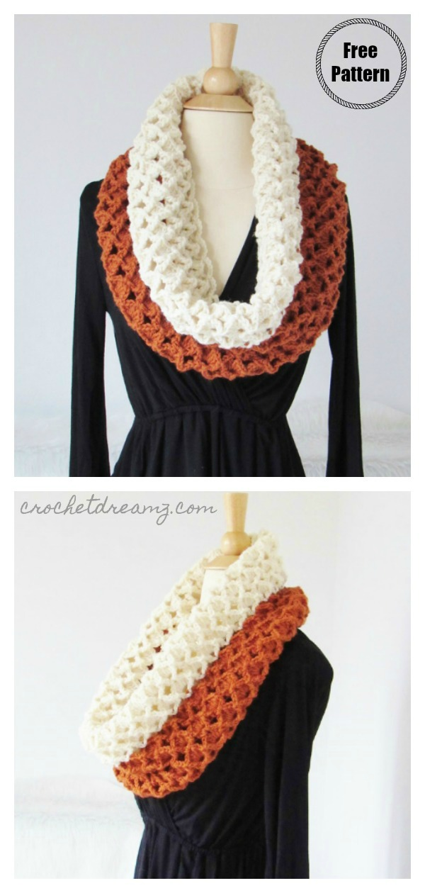 Sea Shells Cowl Free Crochet Pattern