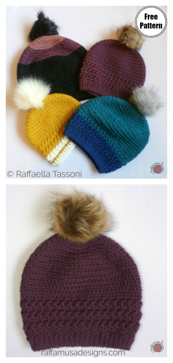 Star Stitch Beanie Hat Free Crochet Pattern