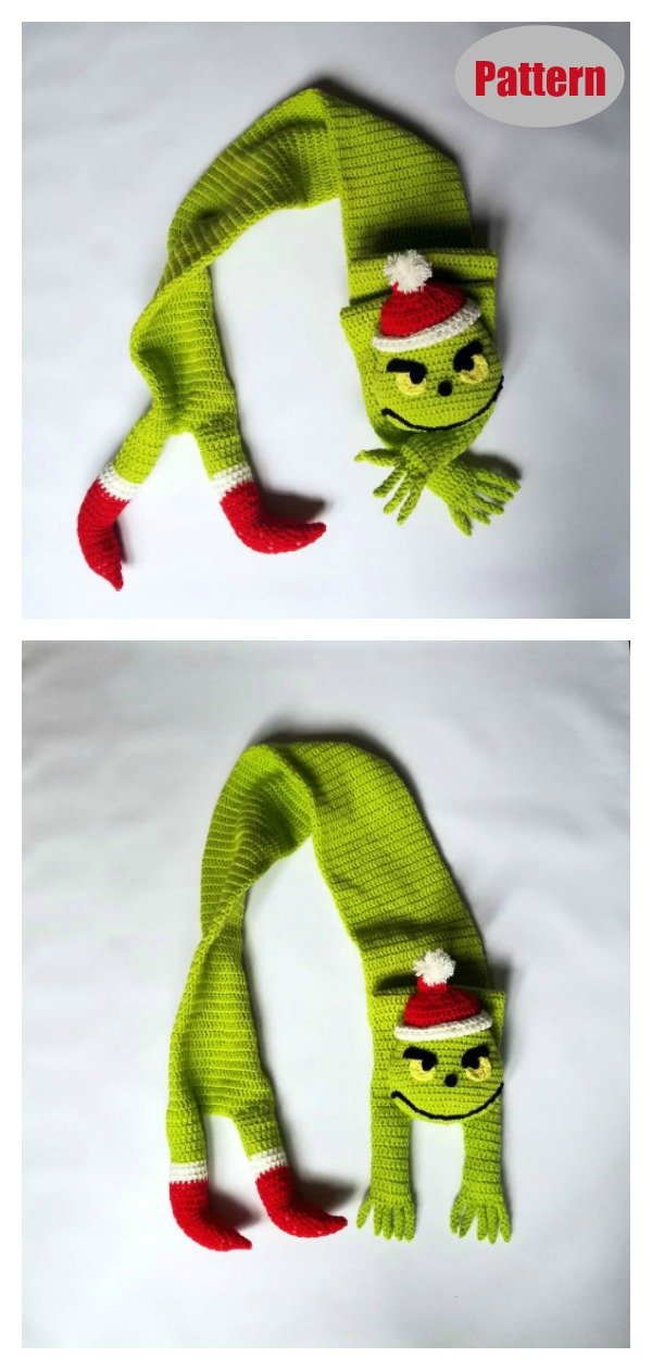 The Grinch Scarf Crochet Pattern