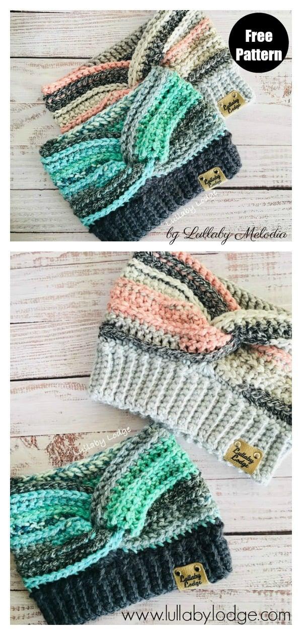 Timeless Drifter Earwarmer Free Crochet Pattern