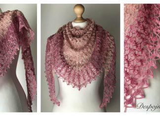 Triangle Lace Shawl Free Crochet Pattern