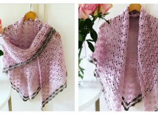 Triangle Lace Shawl Free Crochet Pattern