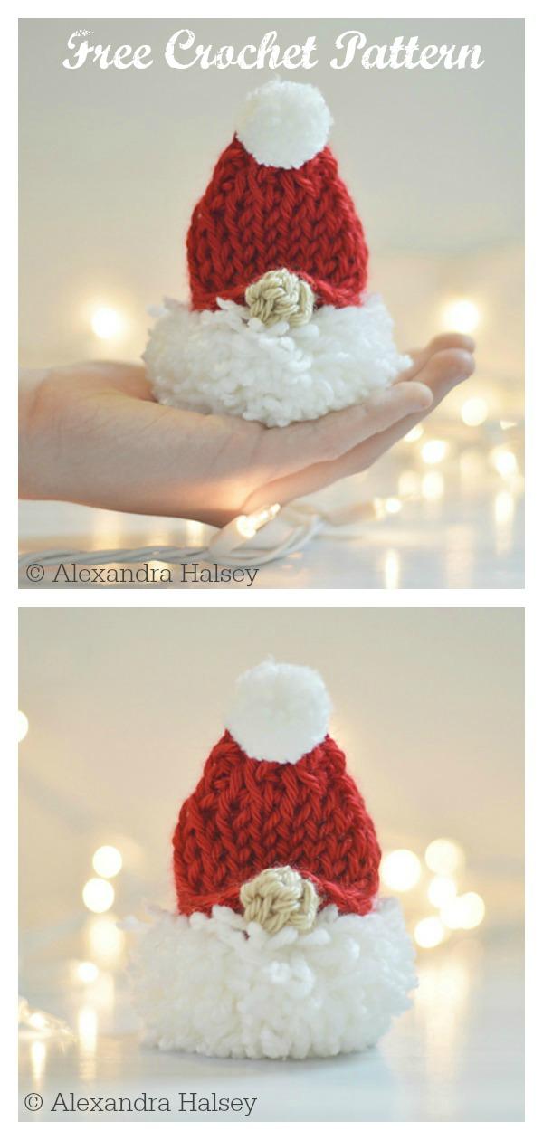 Tunisian Puffball Gnome Free Crochet Pattern