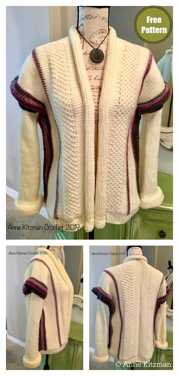 Tunisian Stitch Sweater Free Crochet Pattern