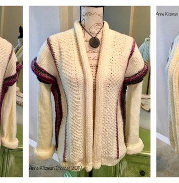 Tunisian Stitch Sweater Free Crochet Pattern
