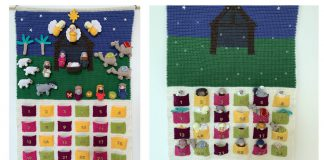 8 Advent Countdown Calendar Crochet Pattern Free and Paid
