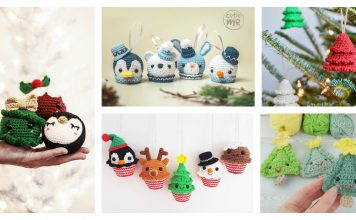Adorable Christmas Ornament Free Crochet Pattern and Paid