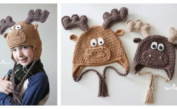 Adorable Moose Hat Free Crochet Pattern