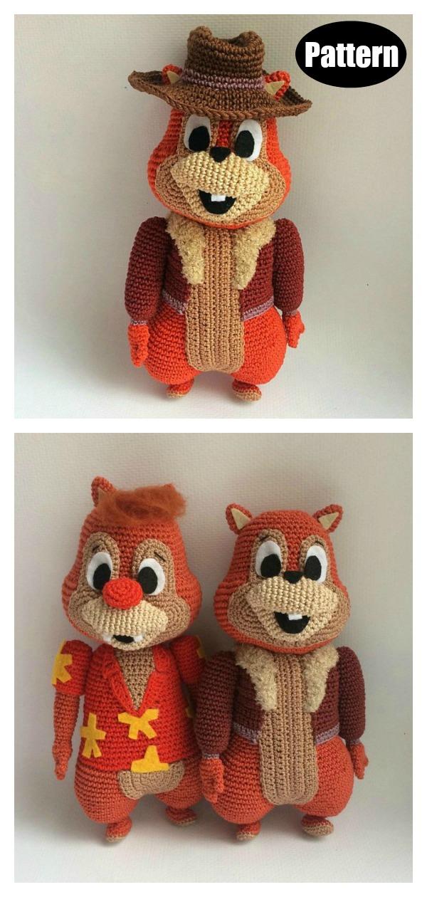 Amigurumi Chip and Dale Chipmunk Crochet Pattern