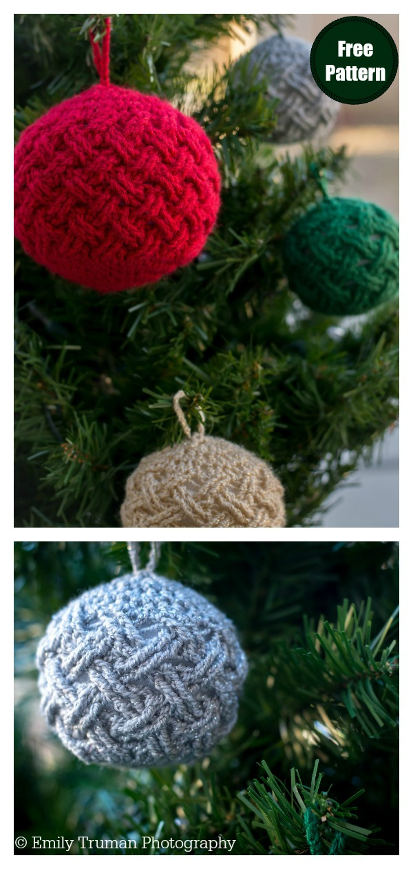 Celtic Weave Christmas Tree Ornament Free Crochet Pattern
