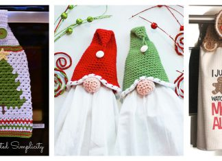 Christmas Kitchen Towel and Towel Topper Free Crochet Pattern