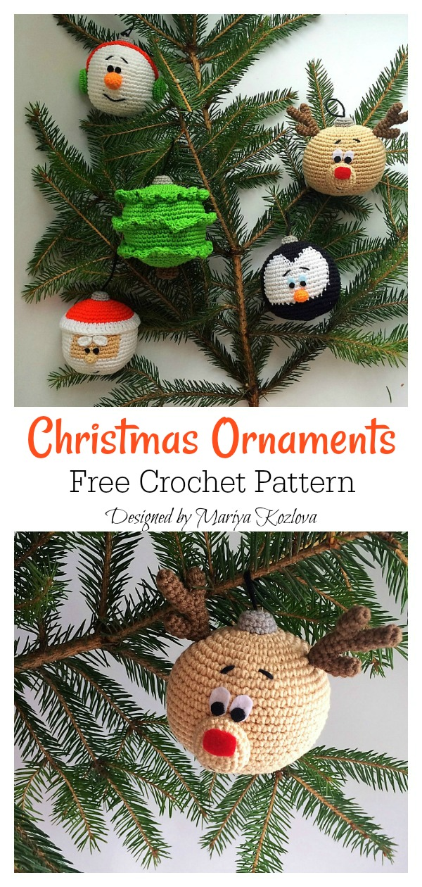 Christmas Ornaments Free Crochet Pattern
