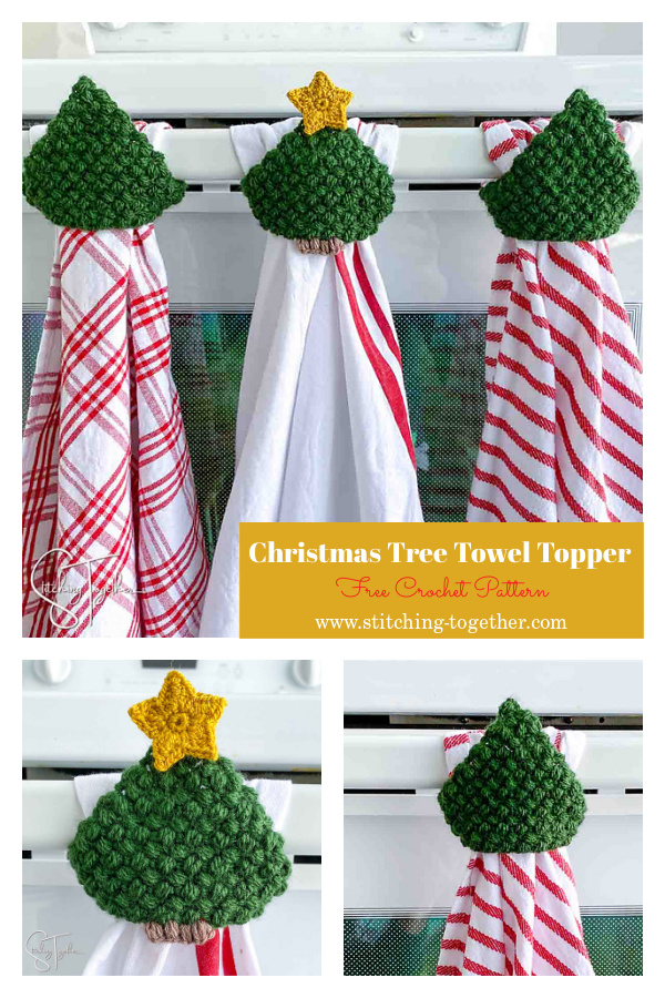 Christmas Tree Towel Topper Free Crochet Pattern