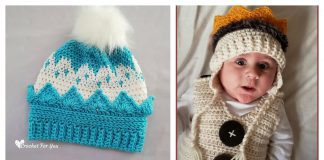Crown Hat Free Crochet Pattern