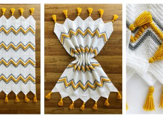 Drops of Heaven Chevron Blanket Free Crochet Pattern