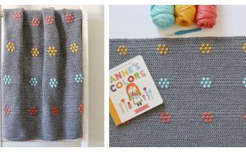 Flower Puffs Blanket Free Crochet Pattern