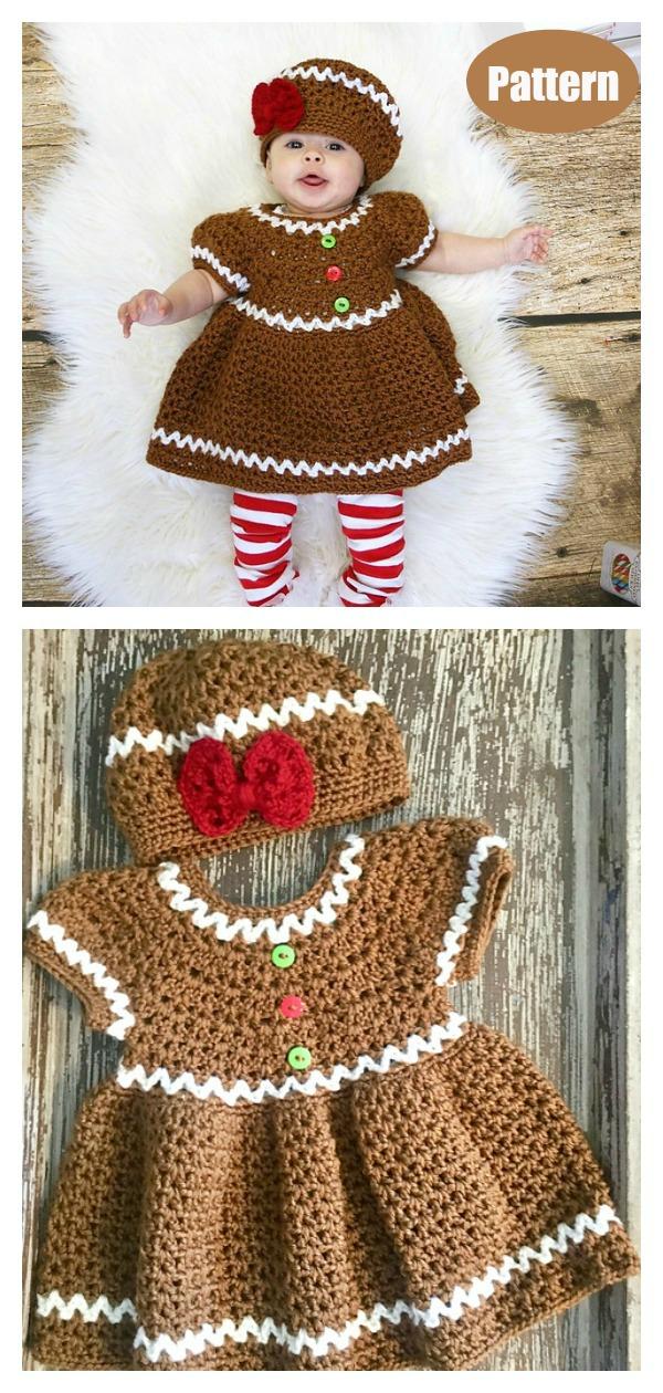 Gingerbread Christmas Dress Crochet Pattern