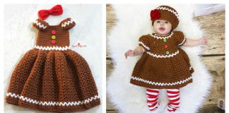 Gingerbread Dress Free Crochet Pattern and Paid
