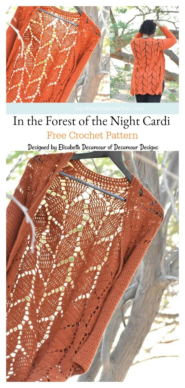 In the Forest of the Night Cardi Free Crochet Pattern