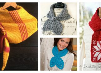Keyhole Scarf Free Crochet Pattern