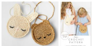 Kids Bunny and Bear Cross Body Bag Free Crochet Pattern