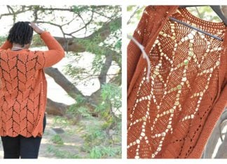Leaf Lace Stitch Cardigan Free Crochet Pattern