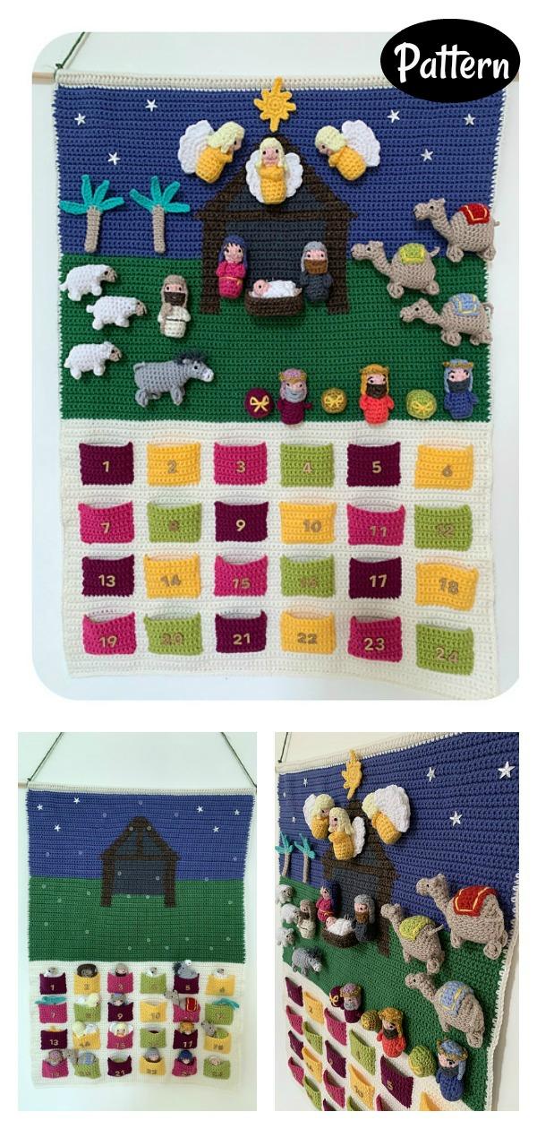 Nativity Advent Calendar Crochet Pattern