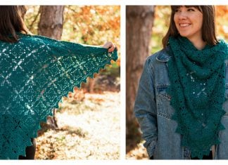 Placid Lace Shawl Free Crochet Pattern