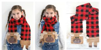 Plaid Moose Scarf Free Crochet Pattern