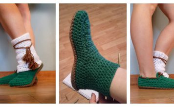 Quick Slipper Free Crochet Pattern
