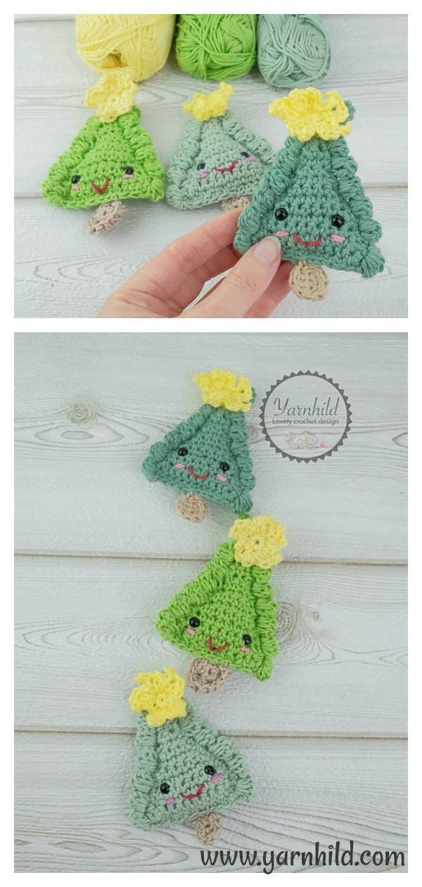 Ragdoll Christmas tree Ornament Free Crochet Pattern