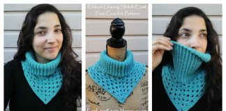 Ribbed Granny Stitch Cowl Free Crochet Pattern