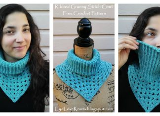 Ribbed Granny Stitch Cowl Free Crochet Pattern