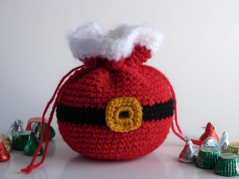 Santa Sack Favor Bag Free Crochet Pattern