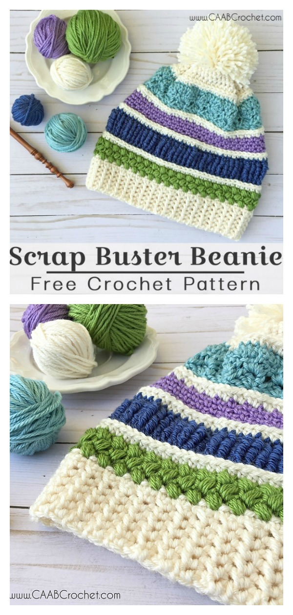 Scrap Buster Sampler Hat Free Crochet Pattern
