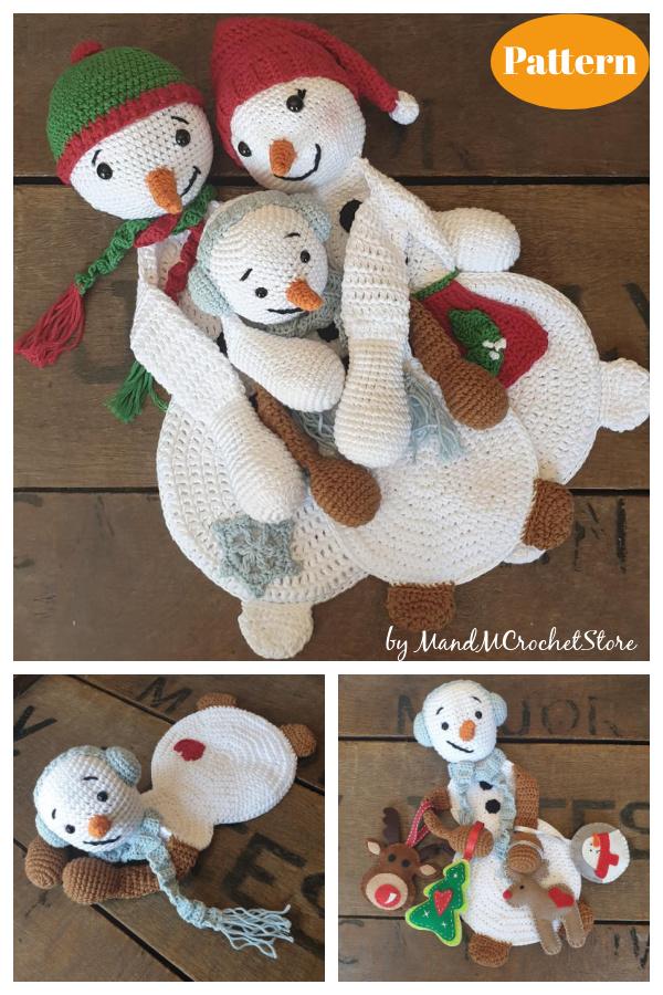 Snowman Family Ragdoll Crochet Pattern