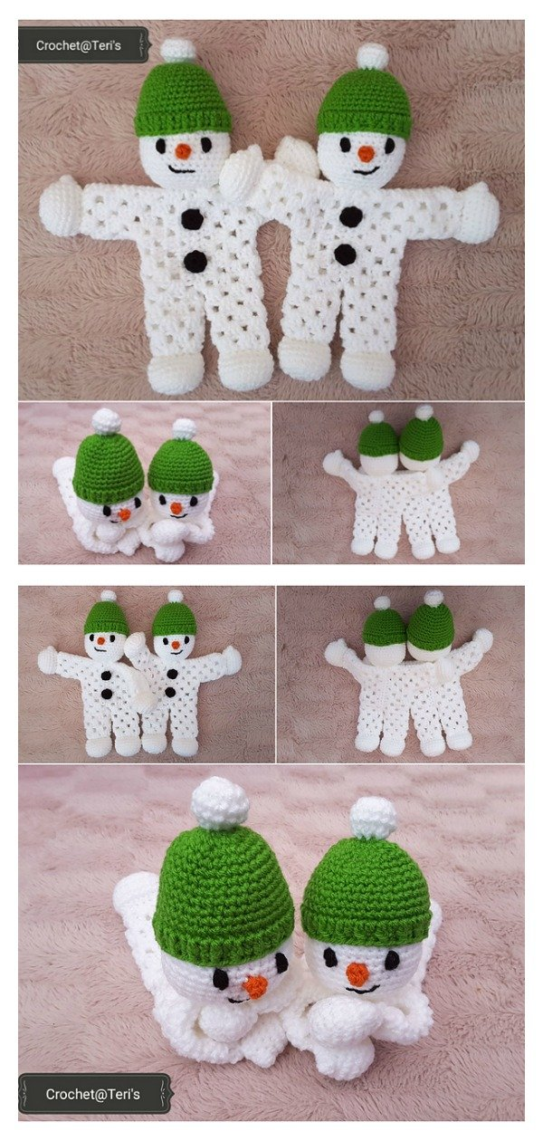 Snowman Granny Hexagon Lovey Free Crochet Pattern