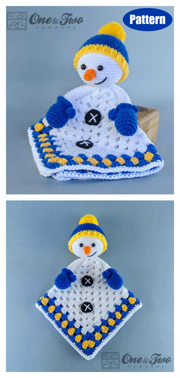 Snowman Lovey Crochet Pattern