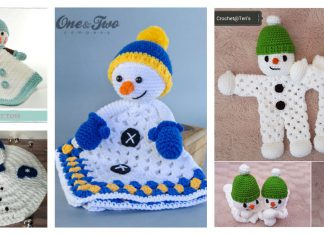 Snowman Lovey Free Crochet Pattern and Paid