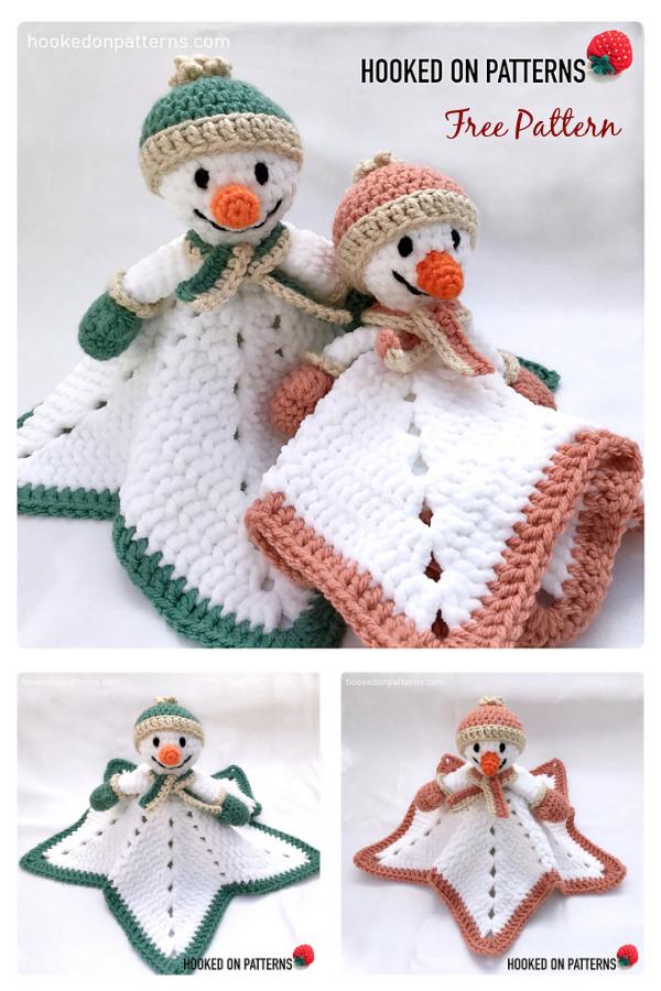 Snowman Lovey Free Crochet Pattern