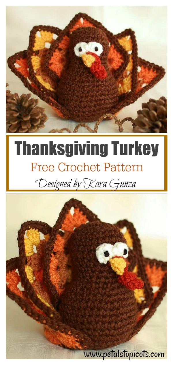 Thanksgiving Turkey Amigurumi Free Crochet Pattern