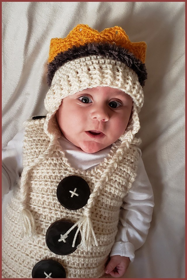 The Baby Crown Earflap Hat Free Crochet Pattern