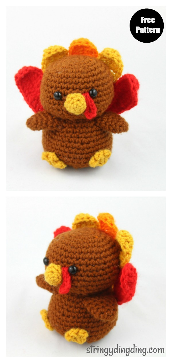 Turkey Amigurumi Free Crochet Pattern