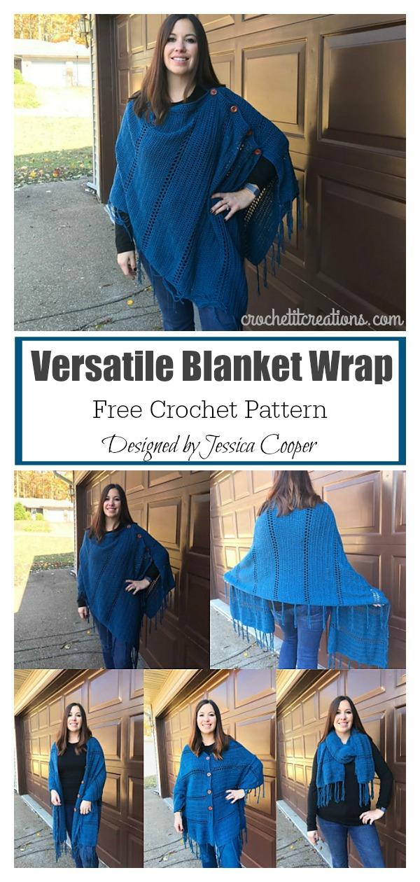 Versatile Blanket Wrap Free Crochet Pattern
