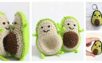 Adorable Avocado Keychain FREE Crochet Pattern