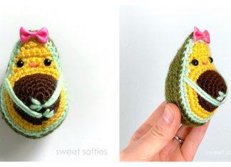 Adorable Avocado Keychain FREE Crochet Pattern