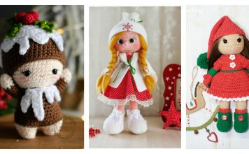 Adorable Christmas Doll Free Crochet Pattern and Paid