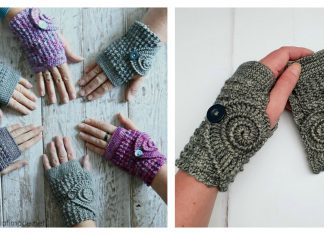 Adorable Fingerless Mitts Free Crochet Pattern