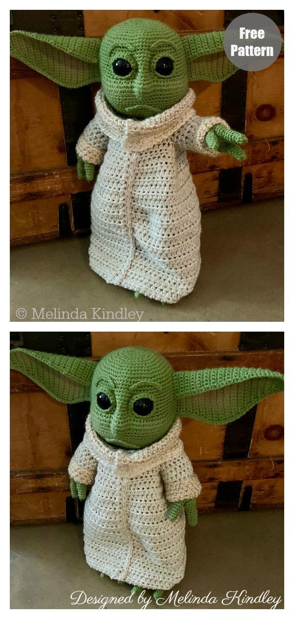 Amigurumi Baby Yoda Doll Free Crochet Pattern