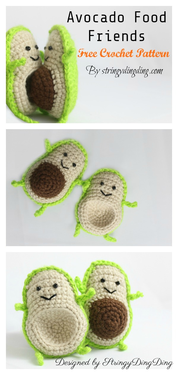 Avocado Food Friends FREE Crochet Pattern